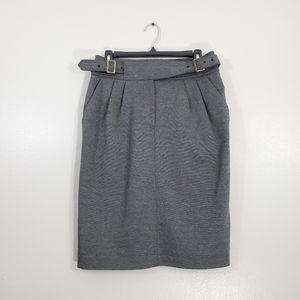 Maeve Gray Belted Skirt
